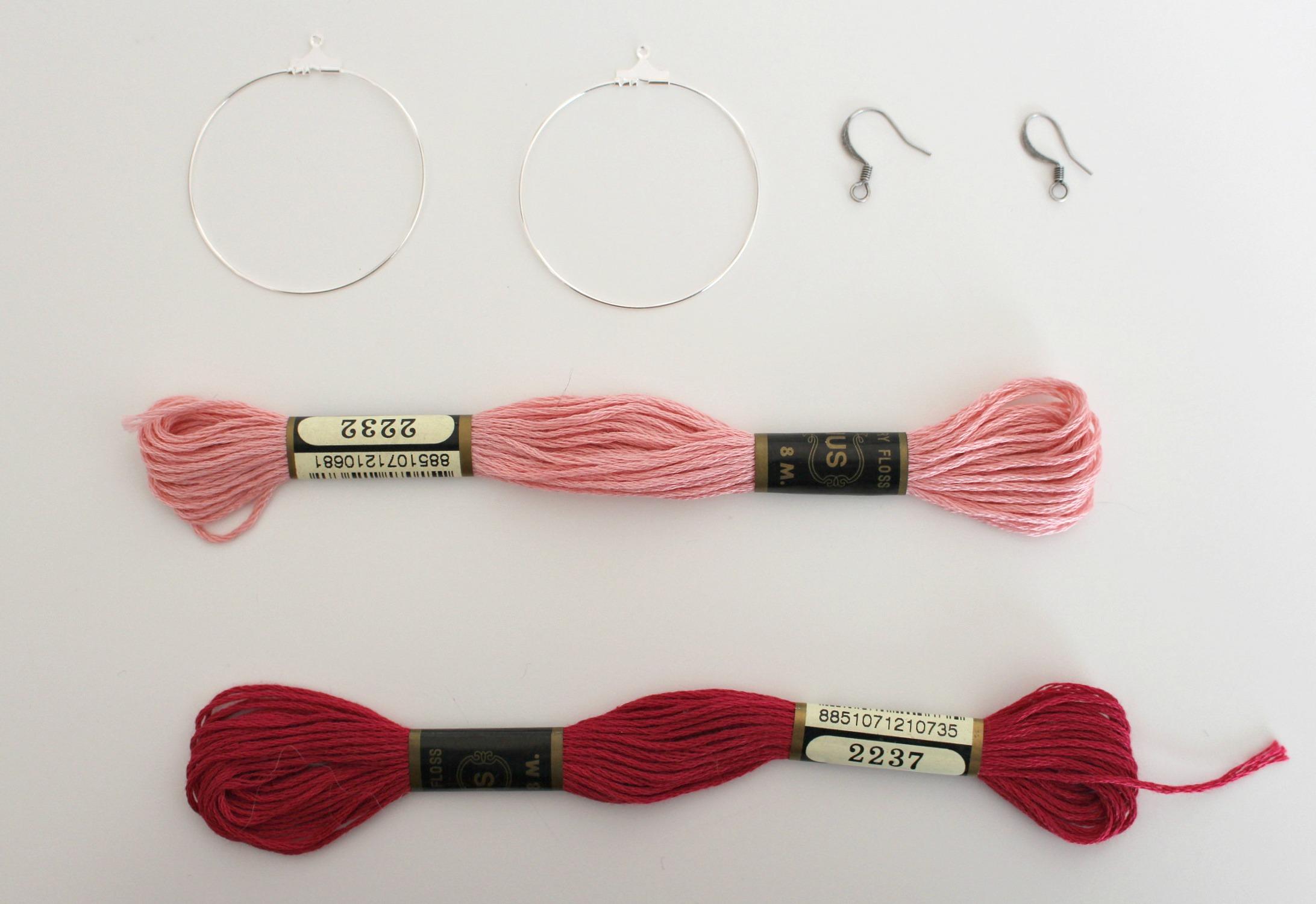 materiel pour réaliser les boucles d'oreilles
