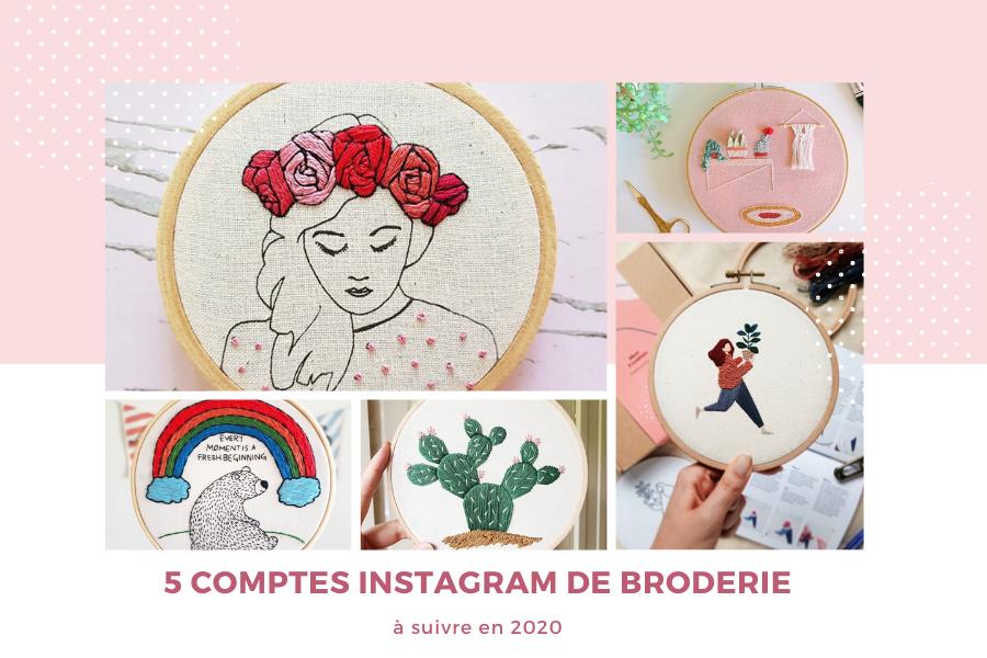 5 comptes instagram de broderie à suivre