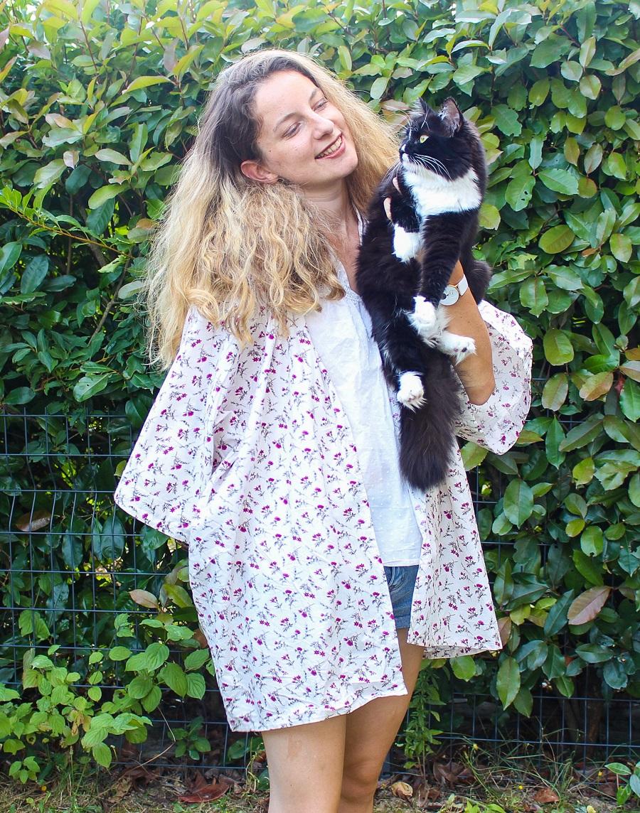 Kimono et chat